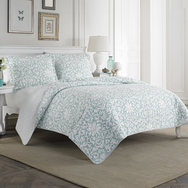 Mia 100% Cotton Reversible Quilt Set by Laura Ashley Home by Laura Ashley Home